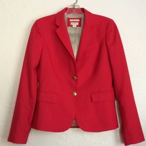 J.Crew school boy wool blend red blazer